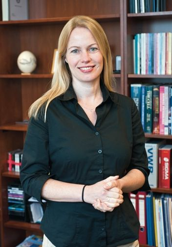 Assistant Professor of Psychology Alexa Veenema, a ...