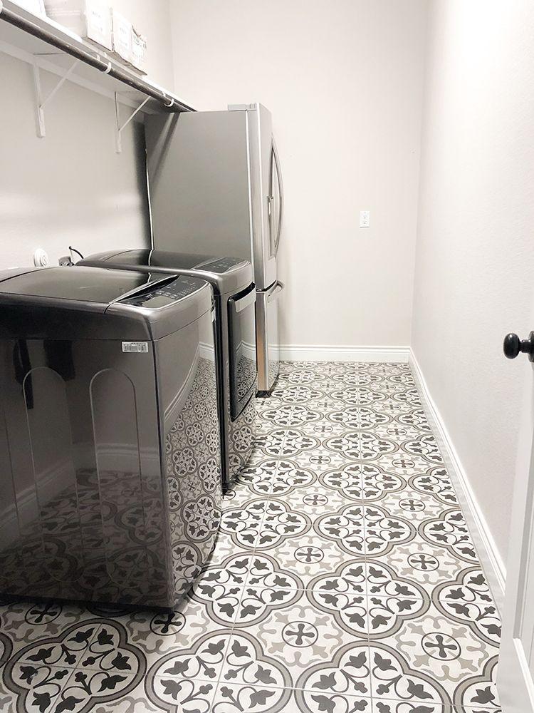 A Faux Farmhouse Laundry Room Laundry room renovation