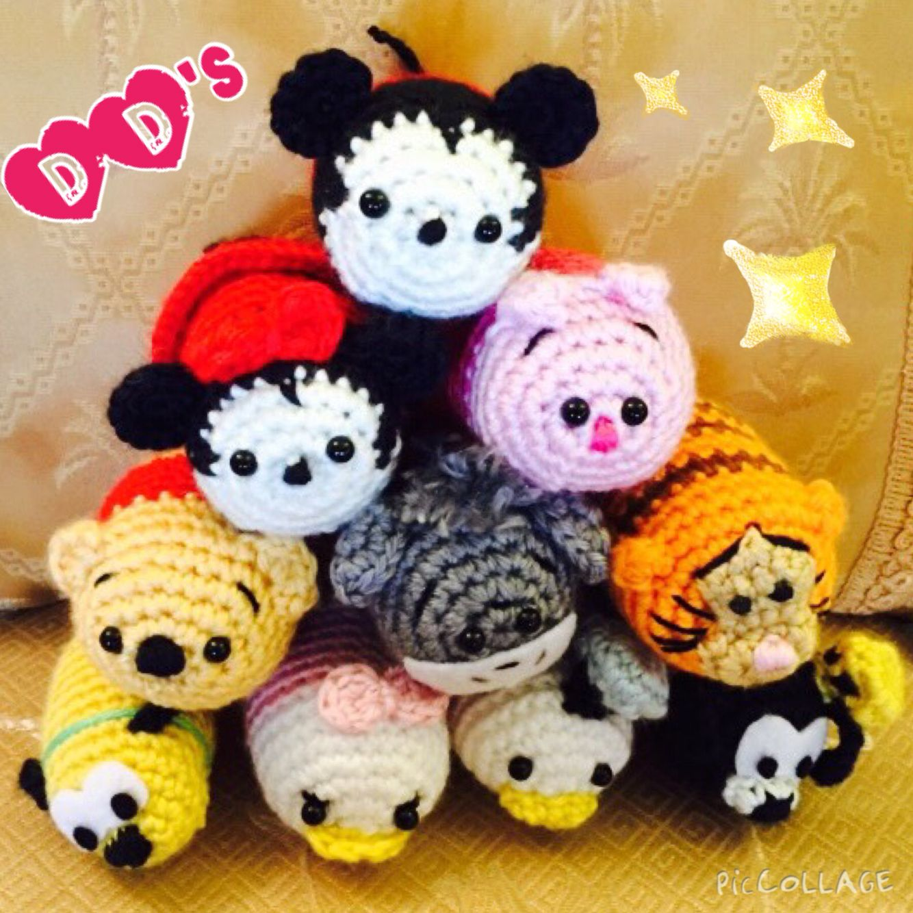 Mickey & Minnie Mouse Amigurumi Crochet Pattern PDF | Peluches a ... | 1334x1334