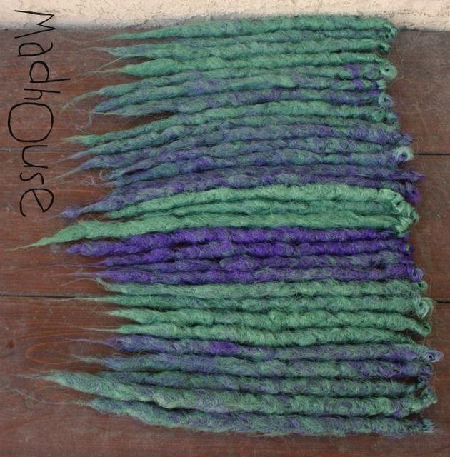 purple bue natural dreads