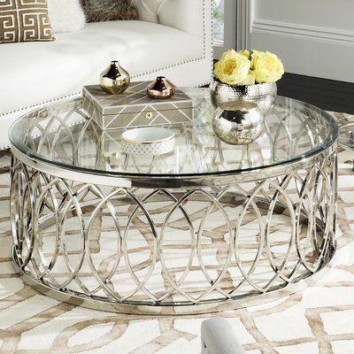 Willa Arlo Interiors Pomonok Coffee Table Glass Coffee Table