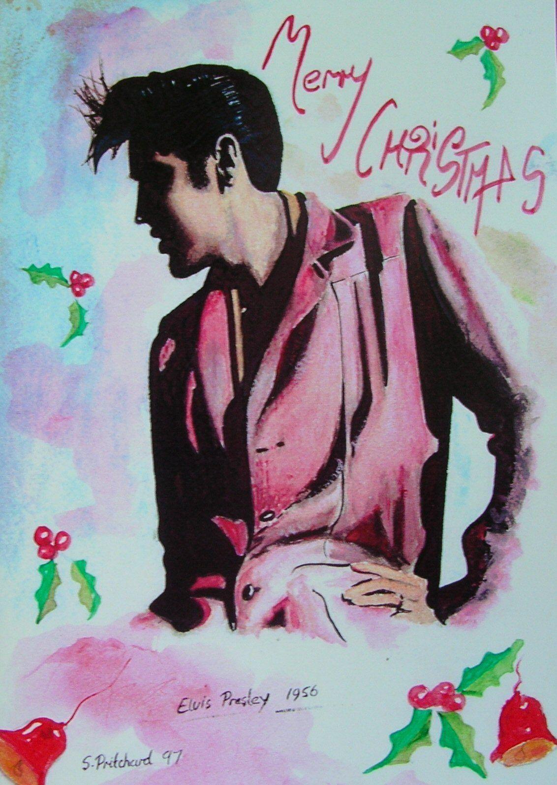 Elvis presley christmas card 1950s rock \'n\' roll rockabilly memphis ...