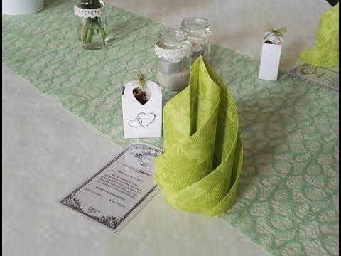 Servietten falten Swirl Deko für Hochzeiten und Feiern #serviettenfalteneinfach