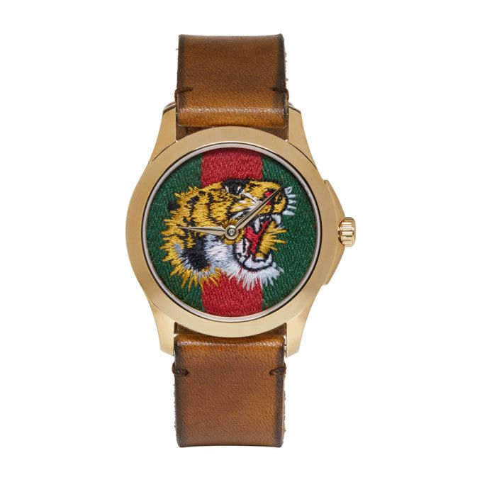 def78a48a55 Gucci - Gold Medium G-Timeless Tiger Watch