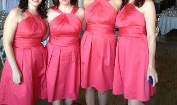 Guava Cotton 83690 Modern Bridesmaid Mob Dress   Wedding Ideas     David s Bridal Guava 83690 Dress  85