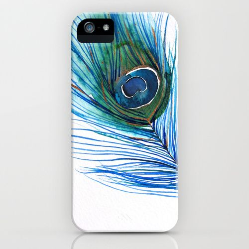 Peacock Feather I iPhone Case