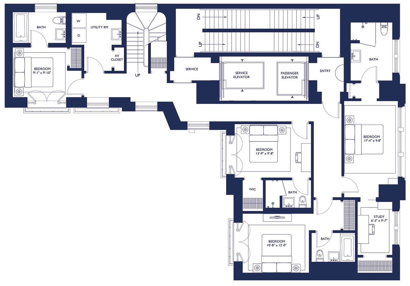 1110 park ave floor plan penthouse n y c p a r 3 1110 park ave floor plan penthouse