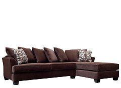 Kathy Ireland Home Ryann 2 Pc Microfiber Sectional Sofa