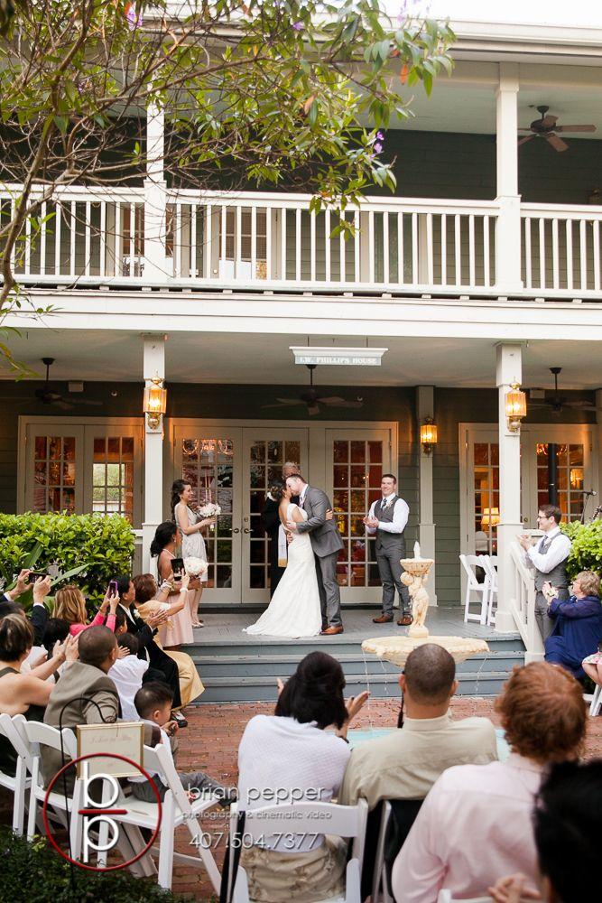 Orlando Wedding Photographer Brian Pepper Captured Weddings At The Historic Courtyard Lake Lucerne