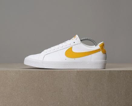 12e0e3e5471c4f Nike SB Zoom Blazer Low - White   Mineral Gold