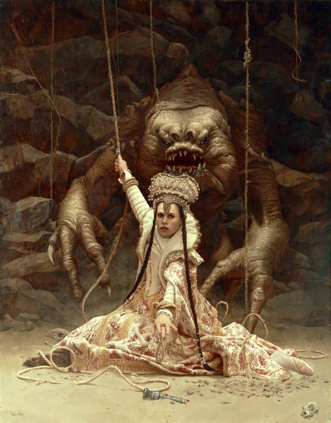 "Rancor Spanish painter Arantzazu Martinez first saw Return of the Jedi when she was 7 years old. ""It made a lasting impression on me,"" she s..."