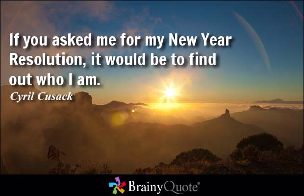 keep searching for the answer to who am i new year