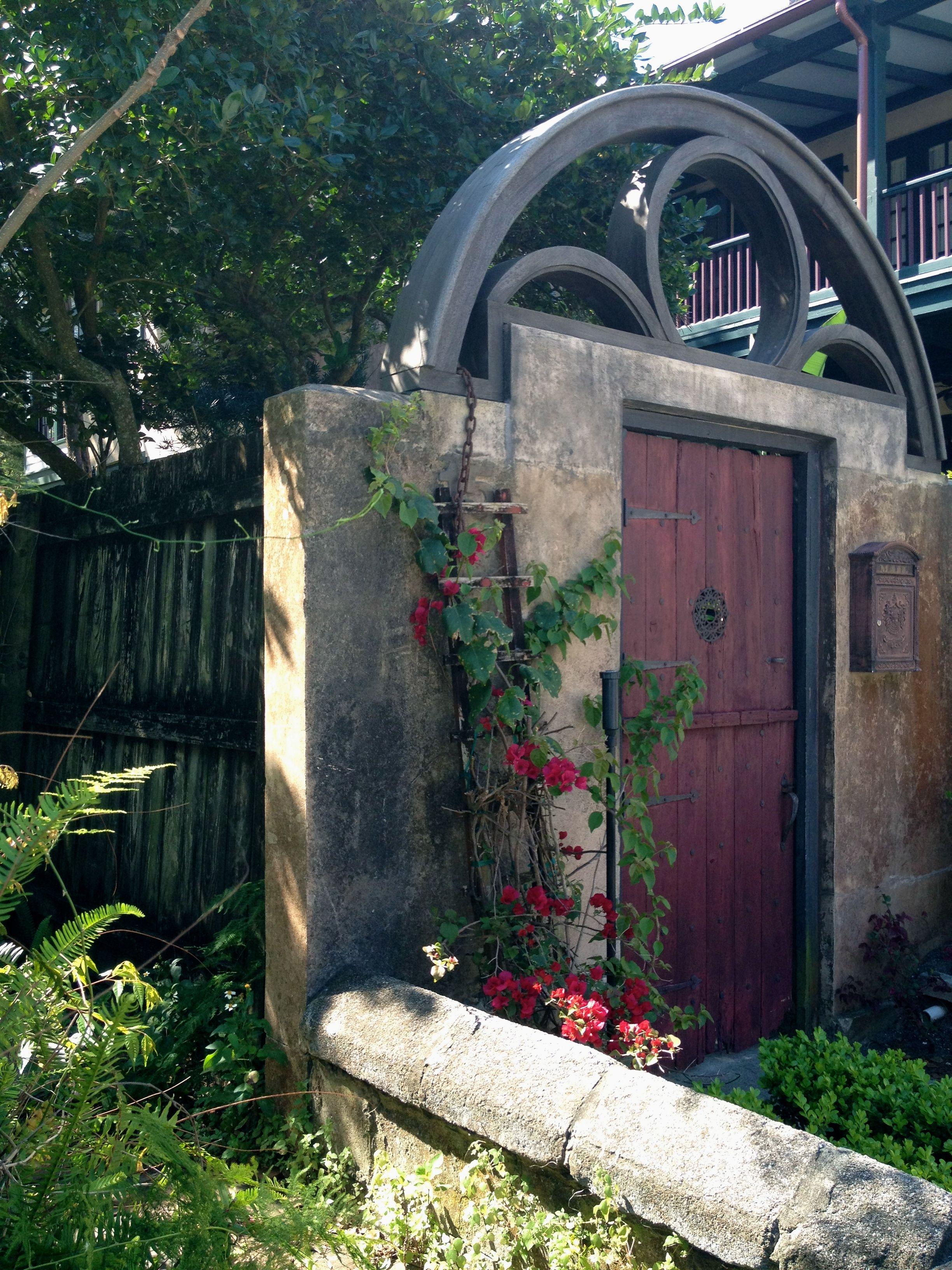 Saint Augustine, FL Behind the garden gate lie's the mystery ...