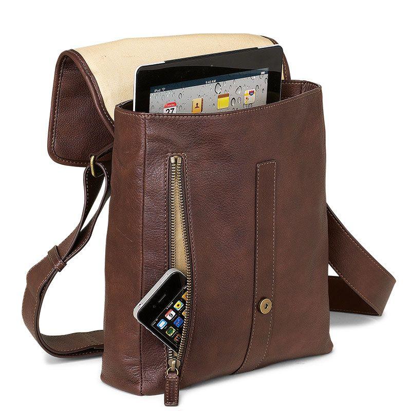 Belmont Ipad Messenger Leather Bag Men S Levenger