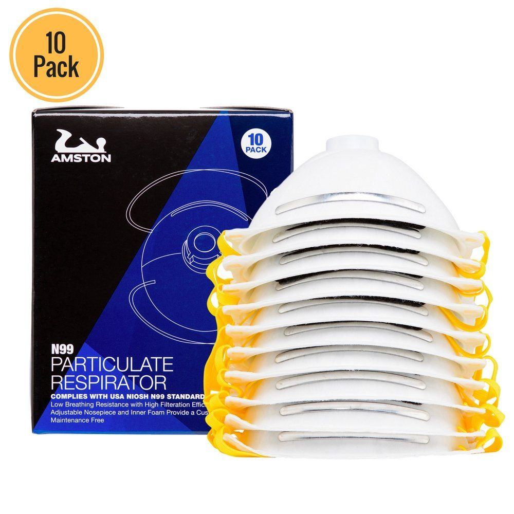 Disposable N99 10 Nioshcertified Masks Amston Dust Safety Pack