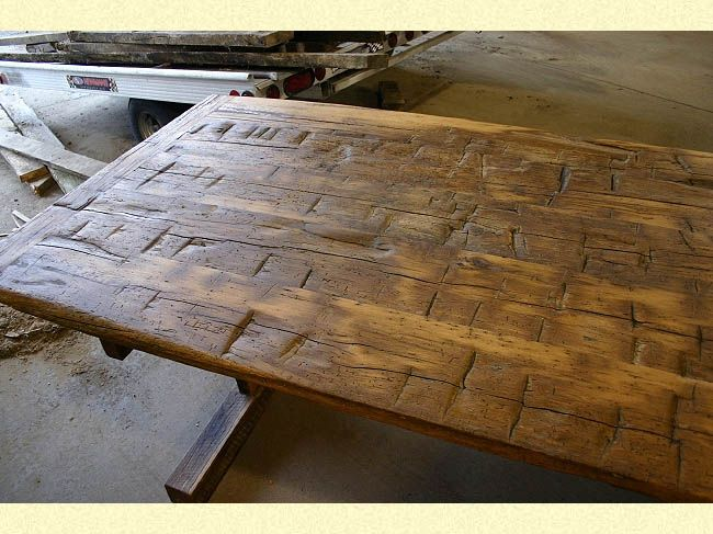 Reclaimed Wood Trestle Tables In 2019 How To Antique