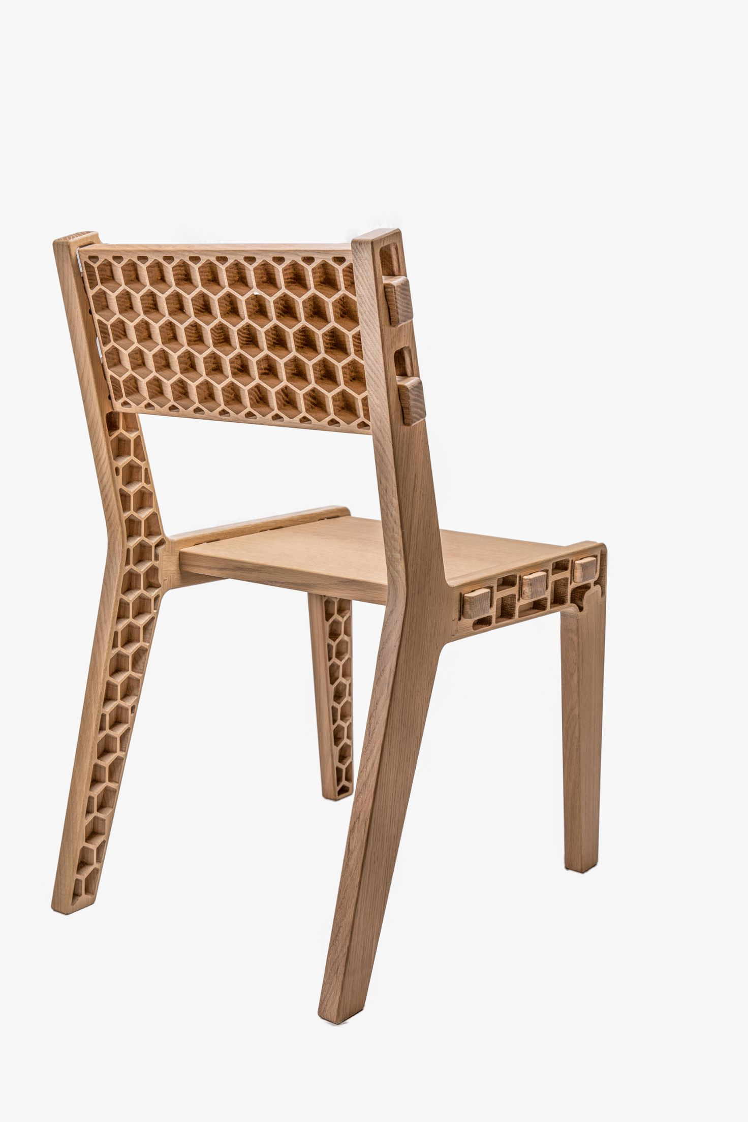 Housefish Honeycomb Chair  Ultra Lightweight Flat Packable Solid Wood Chair