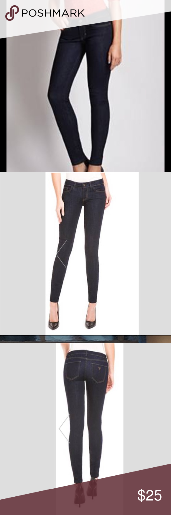 Guess power ultra skinny jeans black