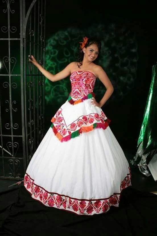 Vestido De Xv Años Estilo Mexicano En 2019 Vestidos De