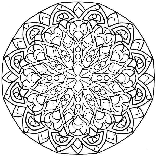 complex stained glass coloring pages - photo#20