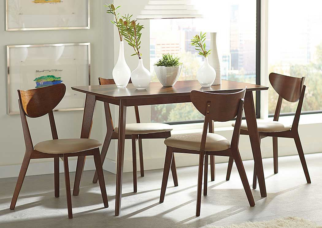 Sclamo S Furniture Worcester Ma Kersey Walnut Dining Table W 4 Side Chairs