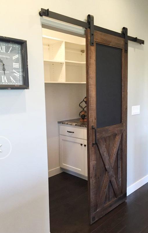 Barn Door With Chalkboard Idea For Kitchen Pantry Room Door Design
