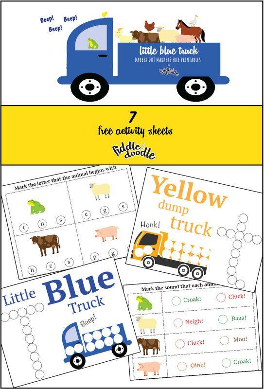 Dot Marker Printables Little Blue Trucks