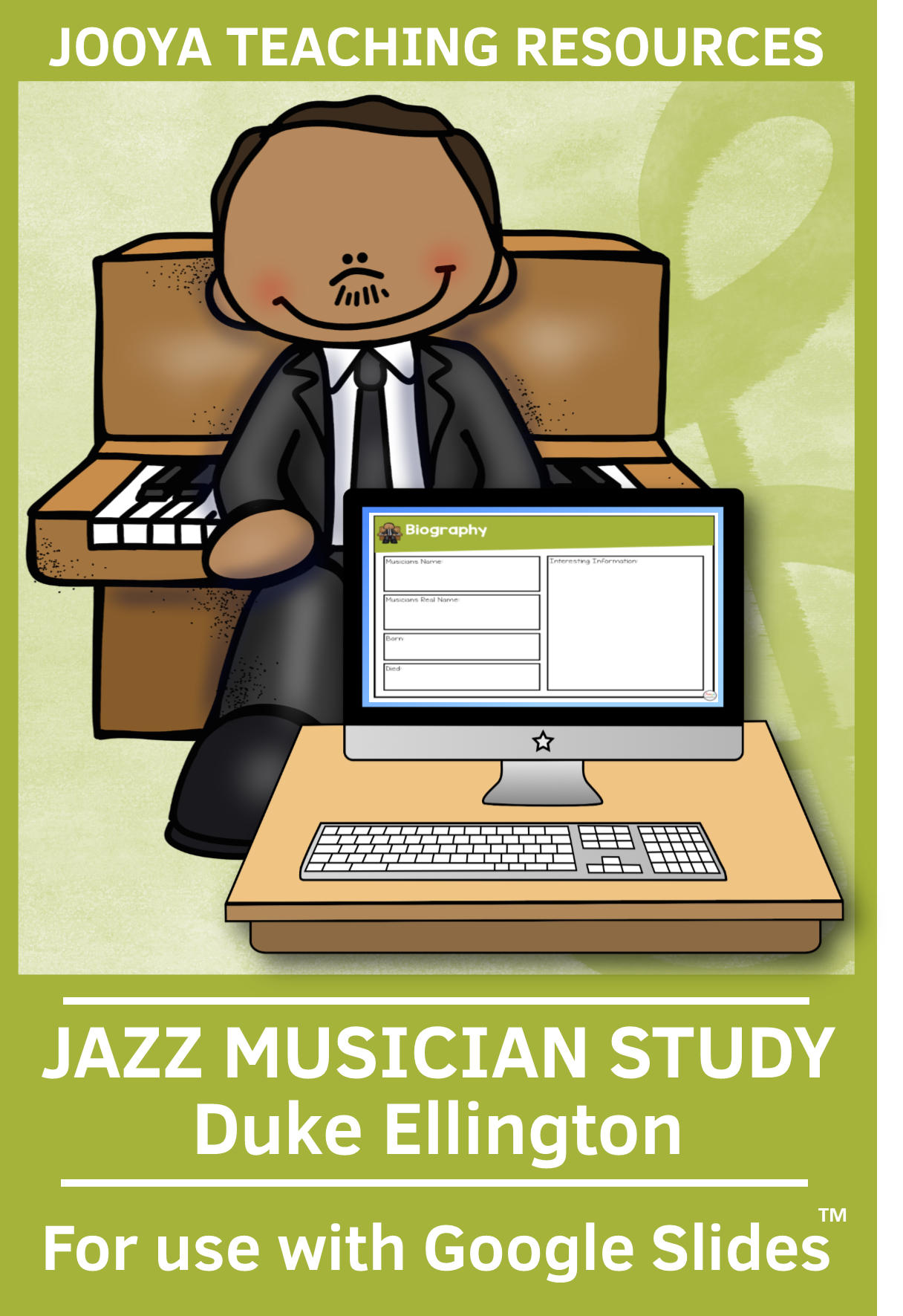 Jazz Musician Study For Use With Slides