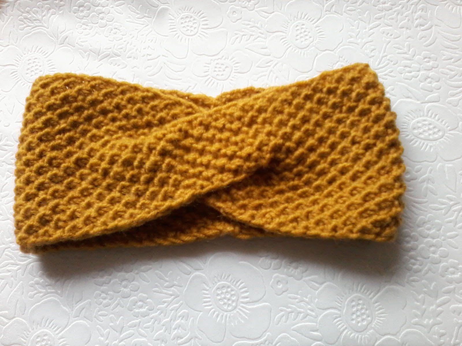 схема вязания повязка для волос спицами