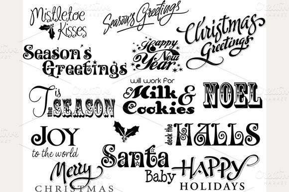 2015/01/31 Check out Christmas Card Word Art by MyClipArtStore on