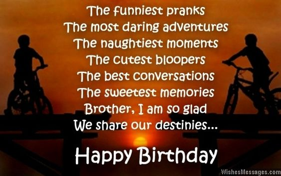 Emotional Happy Birthday Wishes Quotes for Brother in English – Emotional Birthday Cards
