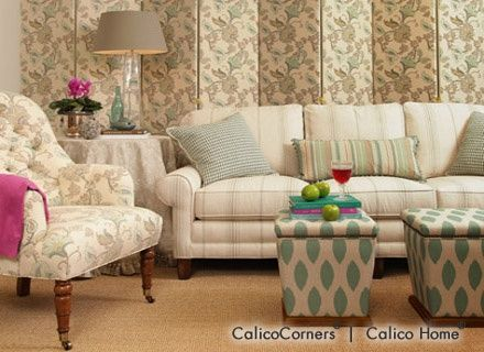 Fabrics, Window Treatments, Furniture, Bedding, Fabric By The Yard, Custom  Decorating · Calico CornersCoordinating FabricsHome ...
