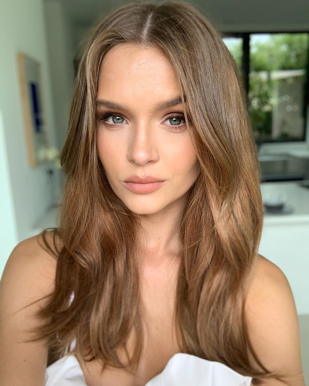 Josephine Skriver On Instagram Because Why Not Because Instagram Josephine Skriver In 2020 Light Brunette Hair Victoria Secret Hair Loreal Hair Color