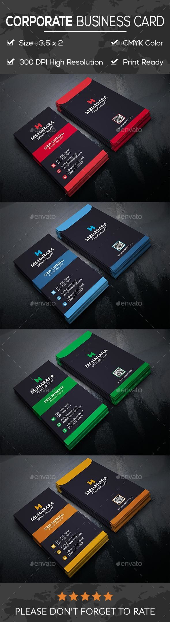 Corporate Business Card Business Card Template Psd Corporate