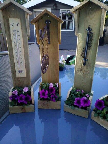 thermometer plantenbak kleine g rten pinterest holz garten und holzarbeiten. Black Bedroom Furniture Sets. Home Design Ideas