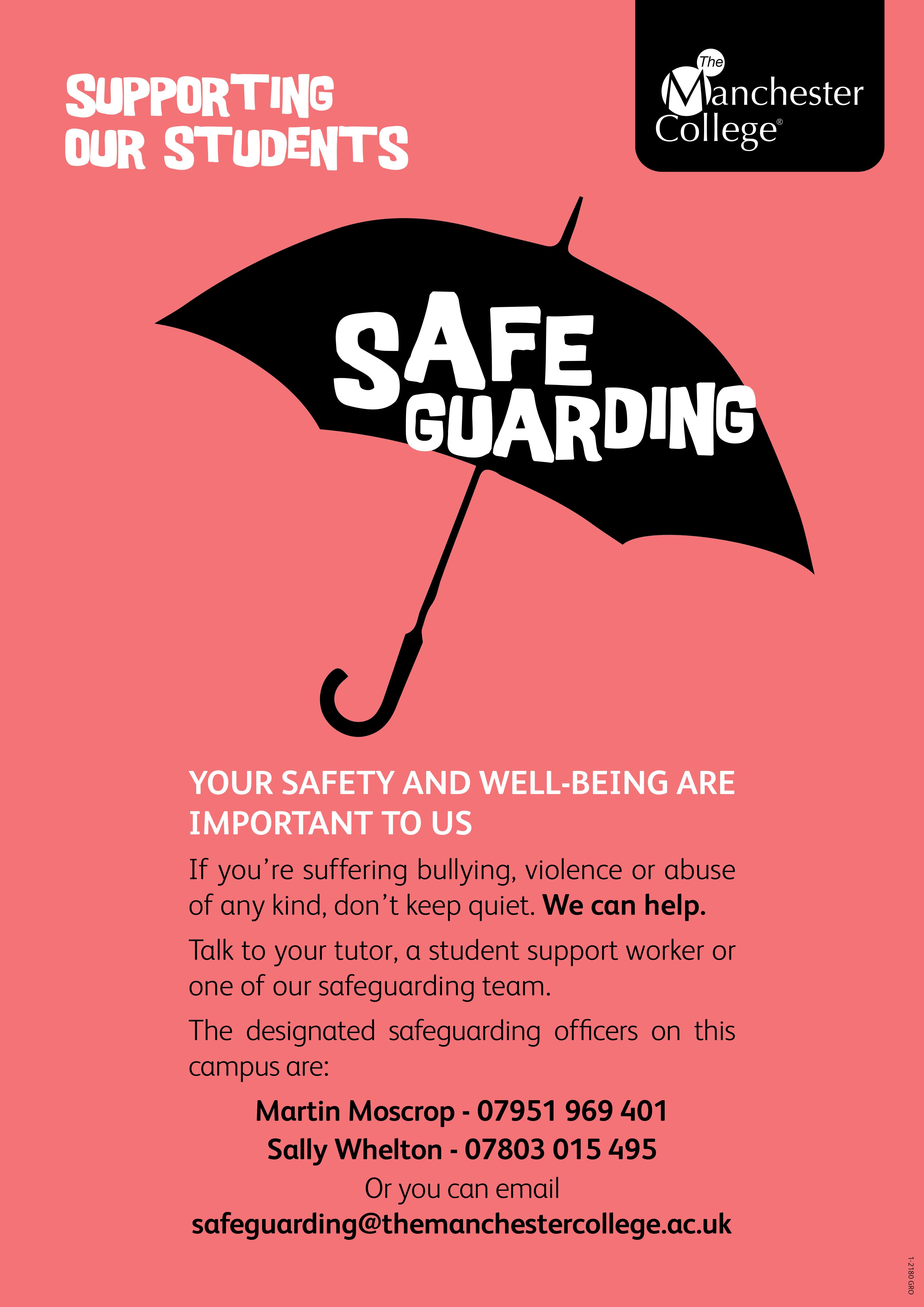 Poster design for students - Safeguarding Poster Part Of A Suite Of Posters For Student Support Created By Sarah