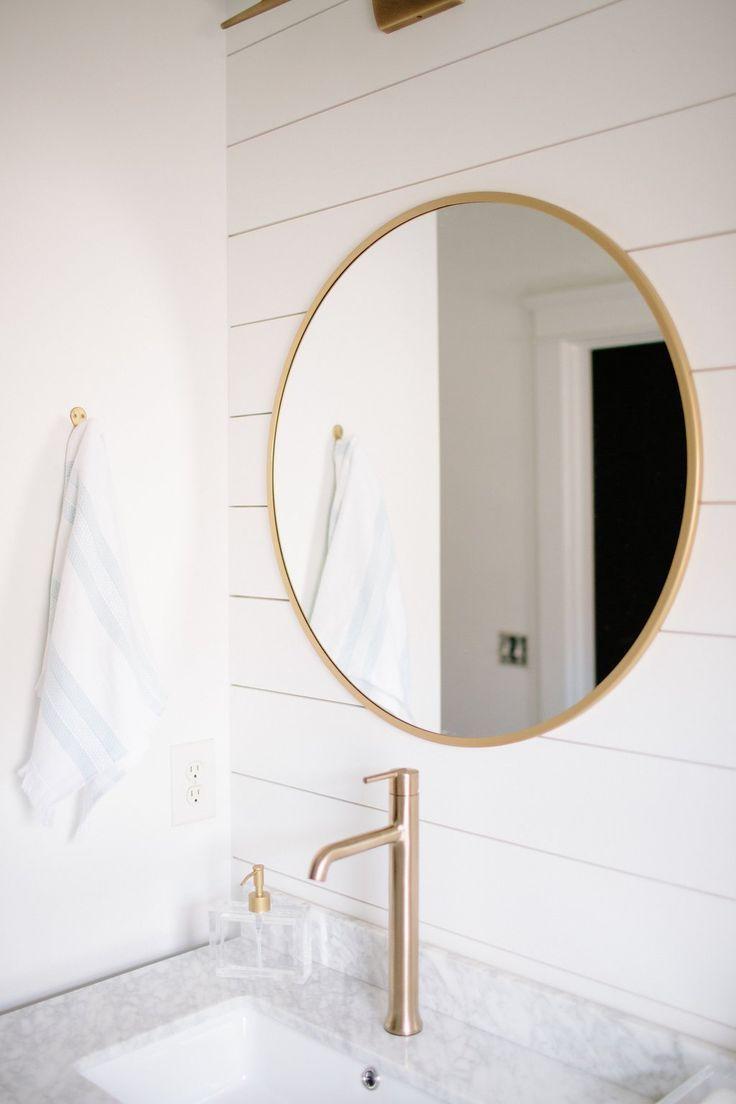 Master Bathroom Renovation: DIY Shiplap Wall Tutorial - Simple Stylings - www.simplestylings.com - Modern and Classic bathroom design