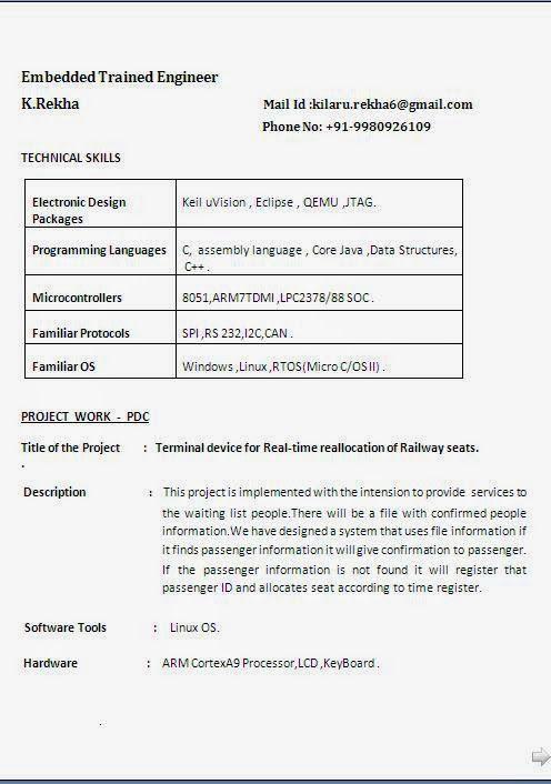 curriculum vitae english Sample Template Example ofExcellent