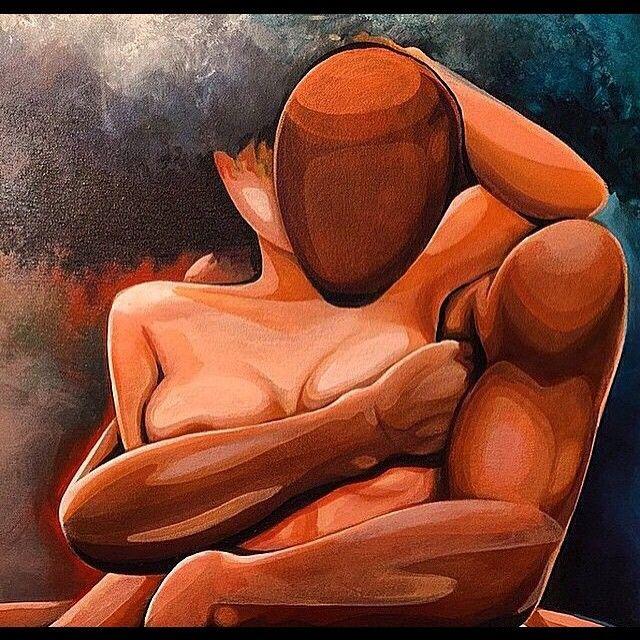 Erotic art couples loving