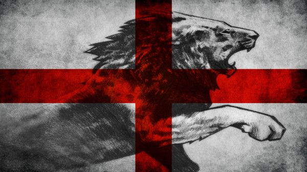 Glamorous Lion On The England Flag Wallpaper Wallpapers England Flag Wallpaper English Flag Happy St George S Day