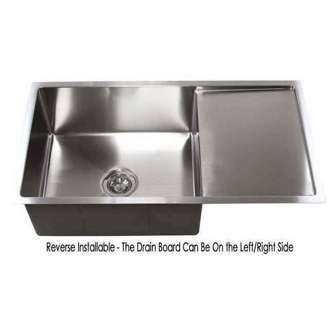 36 Inch Stainless Steel Undermount Single Bowl Kitchen Sink With Dr Stainless Steel Kitchen Sink Undermount Stainless Steel Undermount Single Bowl Kitchen Sink