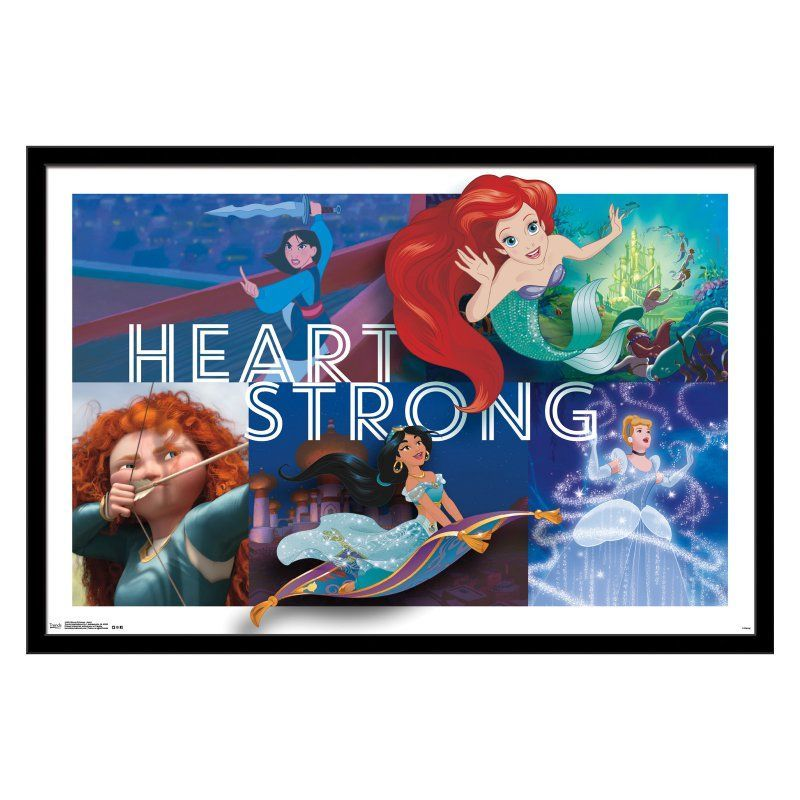 Trends International Disney Princess Heart Framed Wall Poster ...