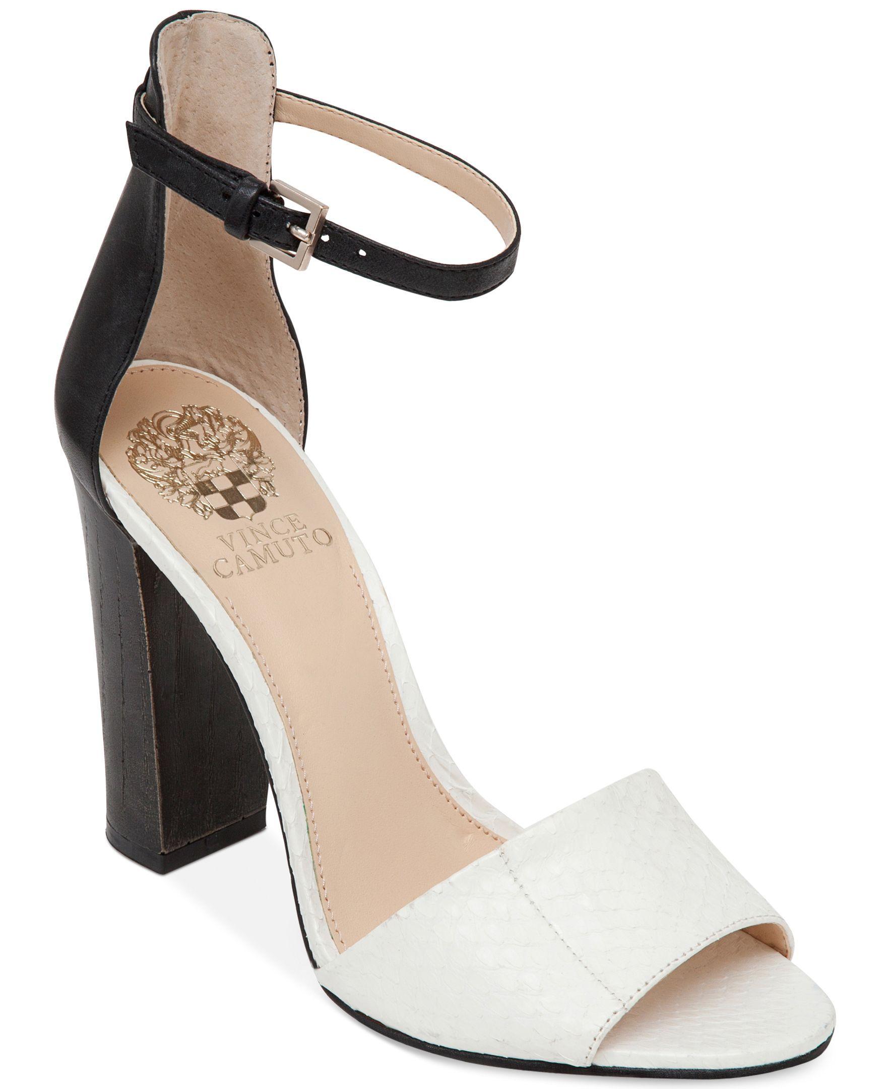dc8ba0dc6a Vince Camuto Velenza Block Heel Ankle Strap Dress Sandals | More ...
