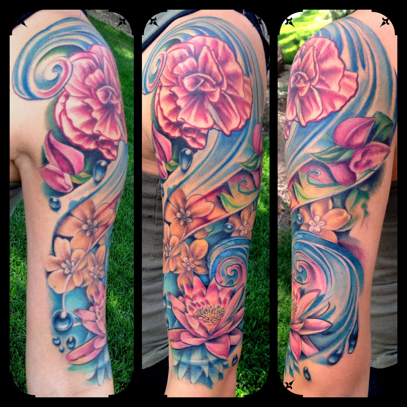 My half sleeve done by ryan campbell at heart of gold for Heart of gold tattoo