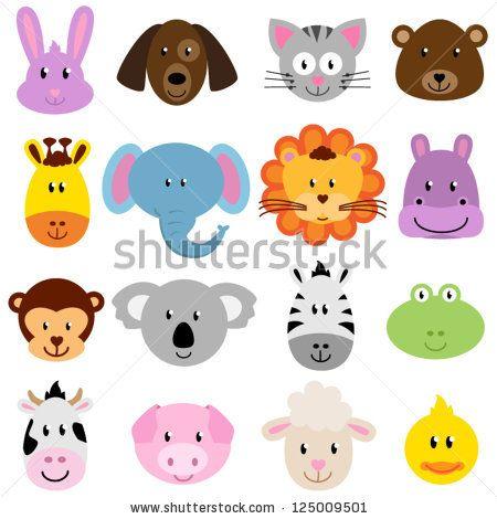Animal Vector Stock Photos Animal Vector Stock Photography Animal Vector Stock Images Shutterstock Com Animal Faces Clip Art Animal Clipart