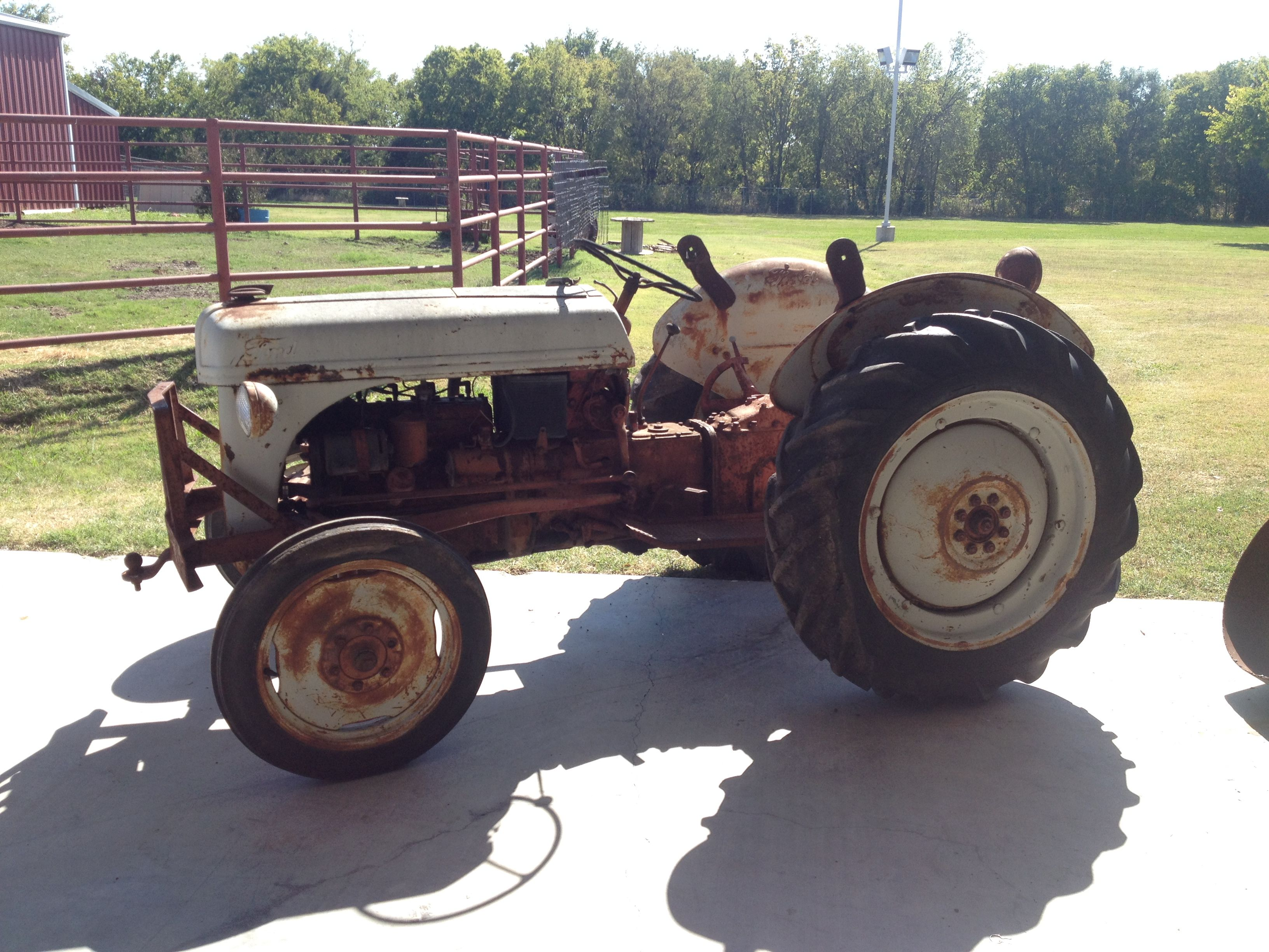 1951 8n Ford Tractor Before Ffa Ag Mech Students Restored It 8n Ford Tractor Tractors Ford Tractors
