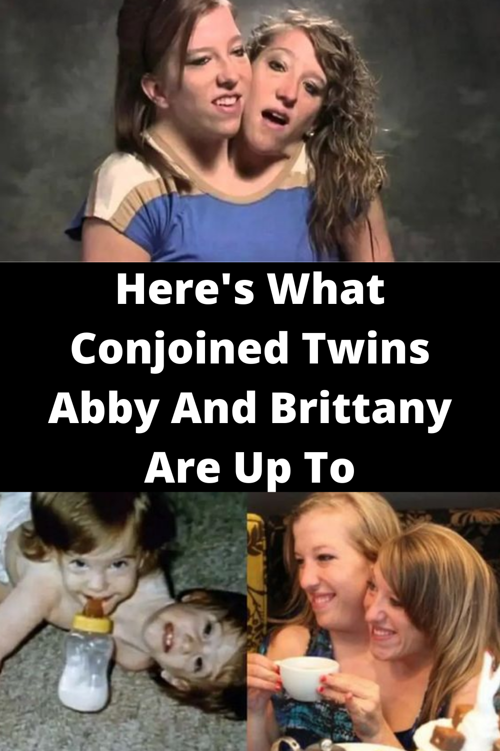 They Ve Spent 28 Years Conjoined Now Abby And Brittany Want To Share What S Next For Them Conjoined Twins Oprah Winfrey Show Gym Workout Tips