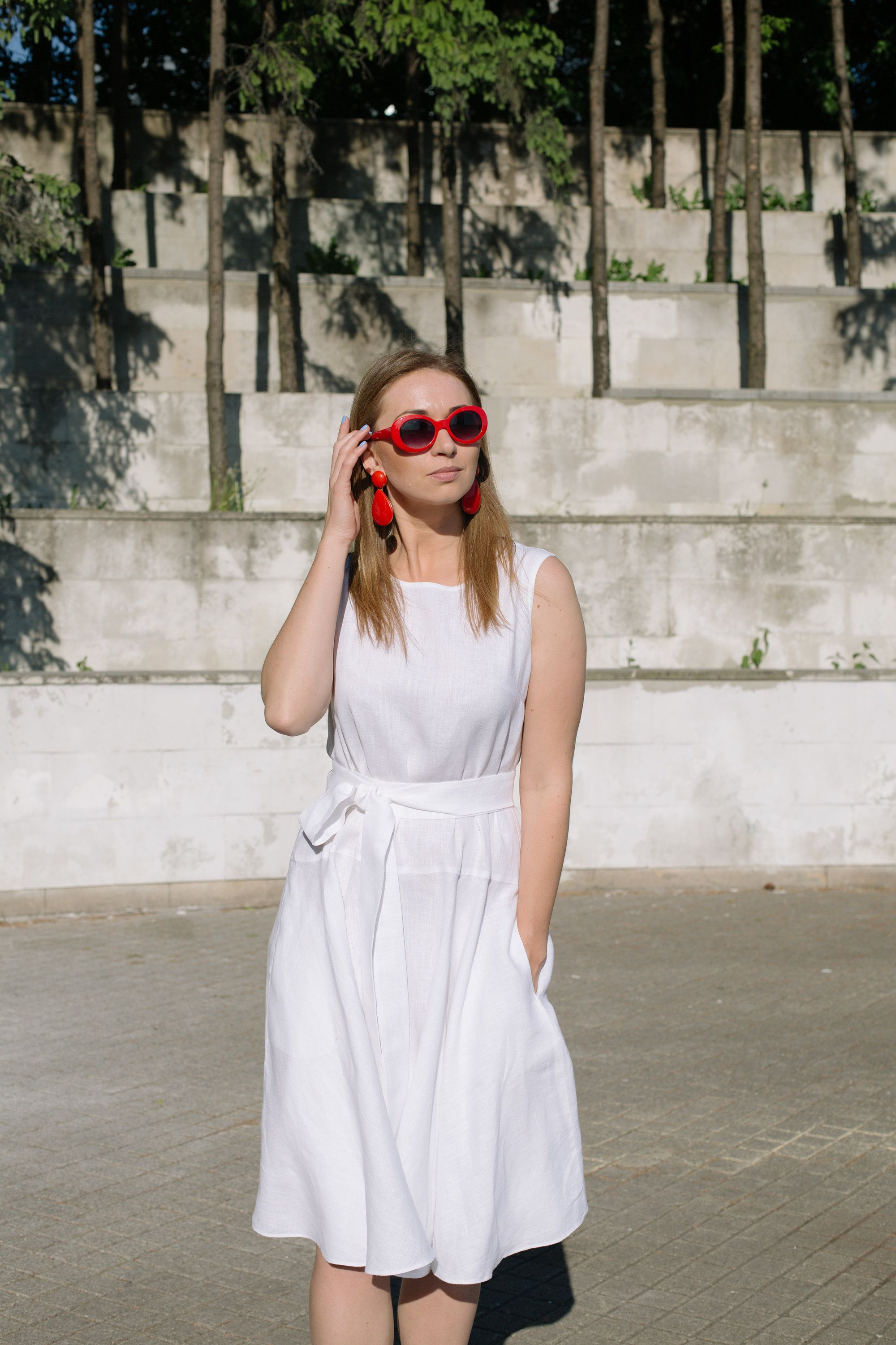 0d1502e067a Excited to share the latest addition to my  etsy shop  White linen dress