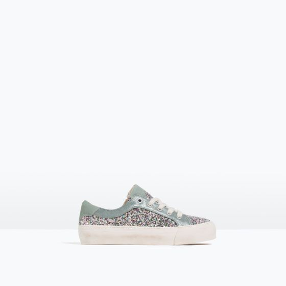 700624b798 Image 1 of GLITTER PLIMSOLLS from Zara   *Kids Shoe Inspiration ...