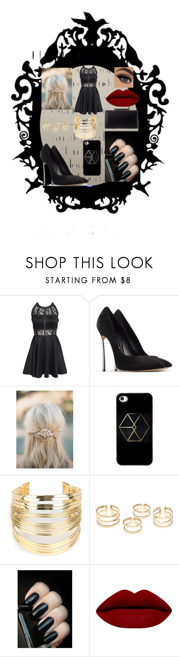 """Venom"" by iiteddybearii ❤ liked on Polyvore featuring Arco, AX Paris, Casadei and WithChic"